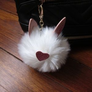 *4/20$* Guess - Faux Fur Keychain